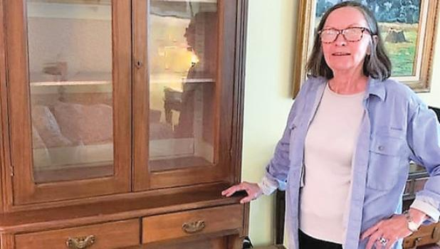 Elizabeth De Baut donated two historical pieces to the SPMH recently, including this pie cupboard that was owned by Oscar and Augusta Debbaut of Minneota.