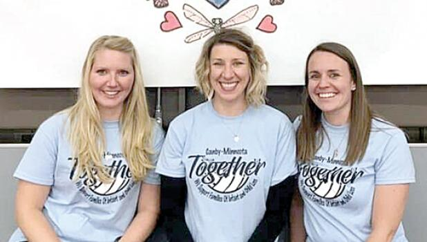 Organizers of With Angel Wings are: (Left to right) Brittany Pridal, Natalie Delmonico and Jessica Woehlhaff.