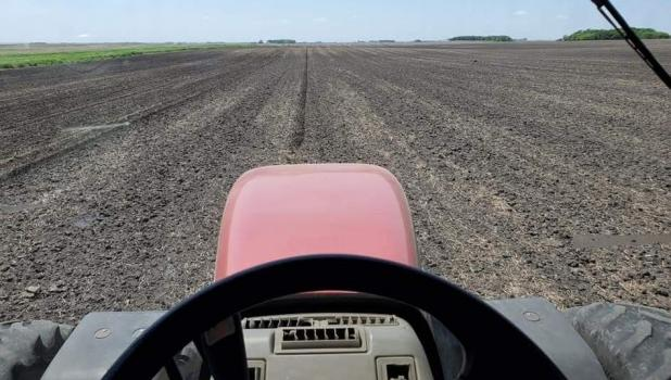 Ross Eischens took this photo out of the cab of his tractor during planting season last spring.