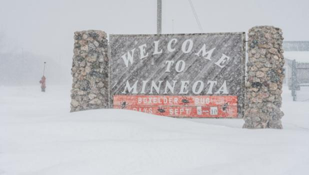 The Minneota area was blanketed with snow over the weekend.