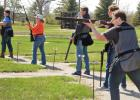 The Minneota Clay Target team shot competition scores for the first time this season last Thursday at Southwest Sportsmens Club. Joe Verschelde, right, takes his turn shooting in the first round, while left to right, Landon DeSmet, Liz DeSmet, Hudson Scholten and Garet DeBoer await their turn.