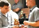 Cole Sanow go his MVP Award from Coach Chad Johnston.