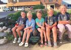 The Girls Scouts from left to right: Avery DeRoode, Addyson Pohlen, Brisbyn Traen, Stella Gorecki and Avery Knutson. Missing, Violet Vlaminck and Jules Gossen.