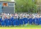 Following graduation ceremonies on Friday evening, Minneota seniors celebrated with the traditional tossing of their mortarboards.