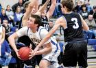 Logan Sussner kept an eye on the basket.