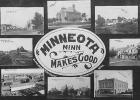 This postcard depicting several Minneota structures was put together in 1909 by Bloon Brothers Publishers of Minneapolis.