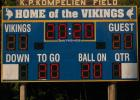 The Kompelien Field scoreboard was lit in 2020 for this year's class.