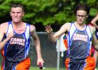 Carter Wente took the baton from Cole VanOverbeke and put all his effort into his portion of the relay.